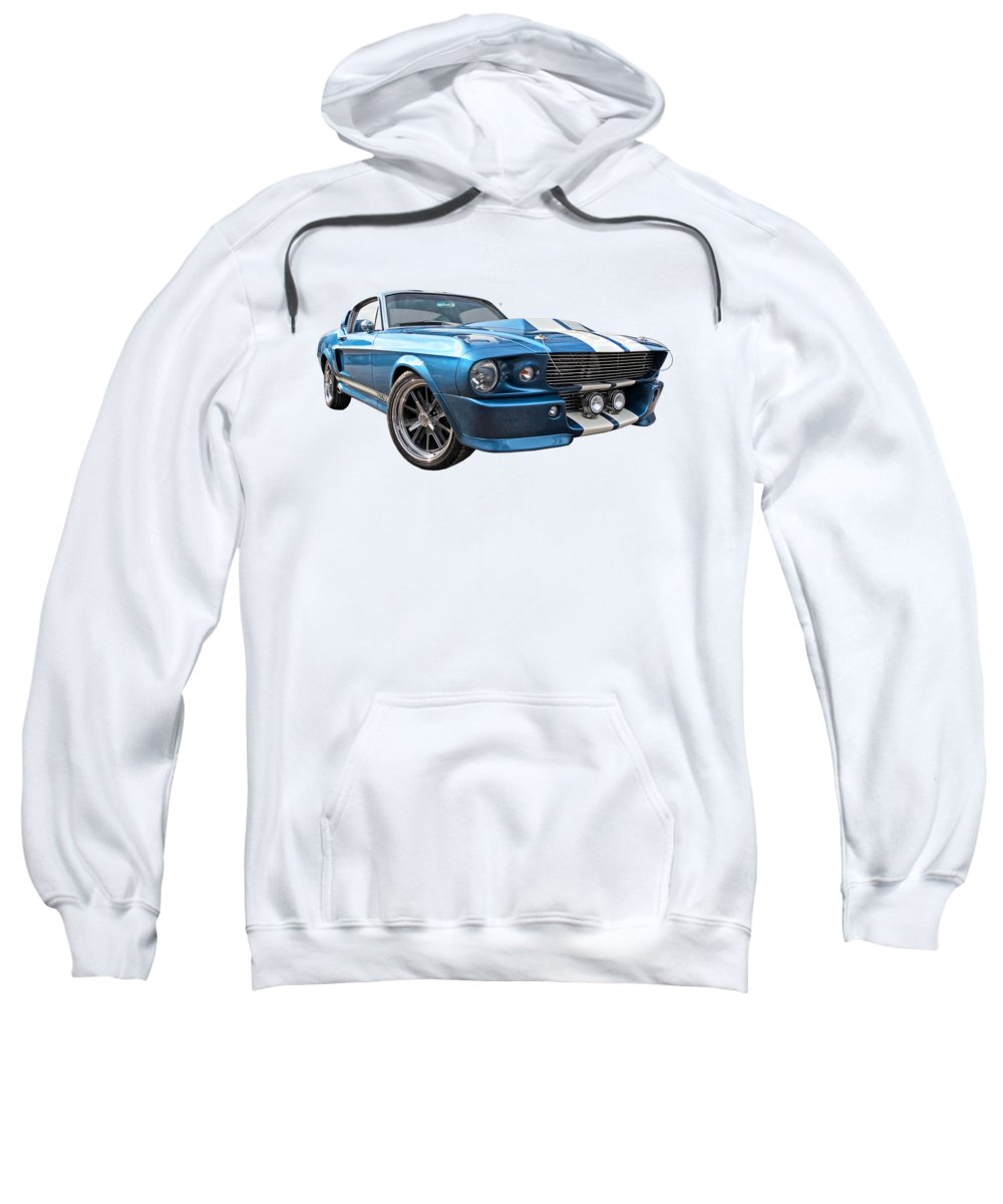 Ford Mustang Sweatshirt featuring the photograph Blue Skies Cruising - 1967 Eleanor Mustang by Gill Billington