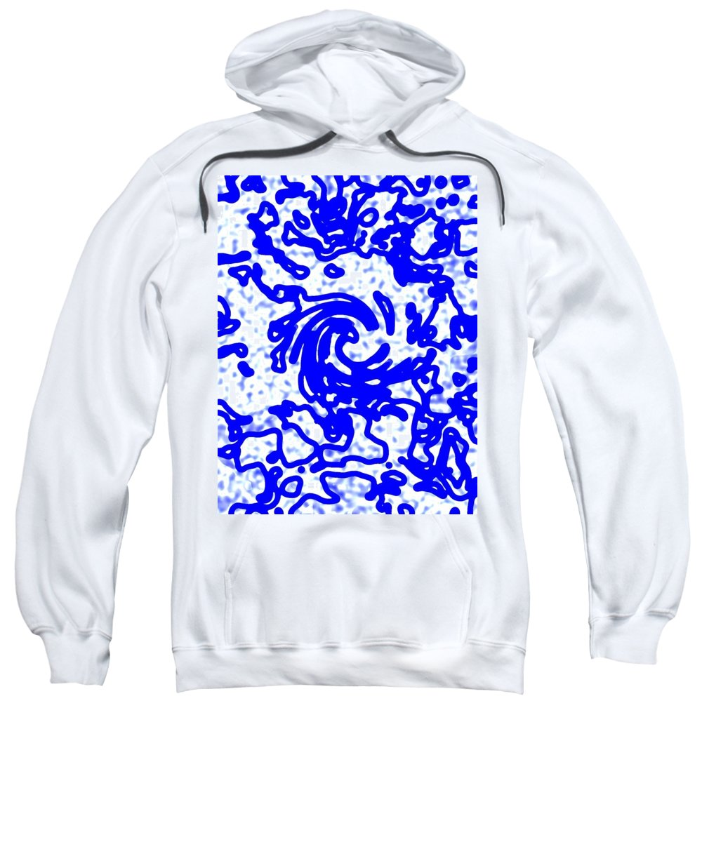 Digital Sweatshirt featuring the digital art Blue Tornado by Art Speakman