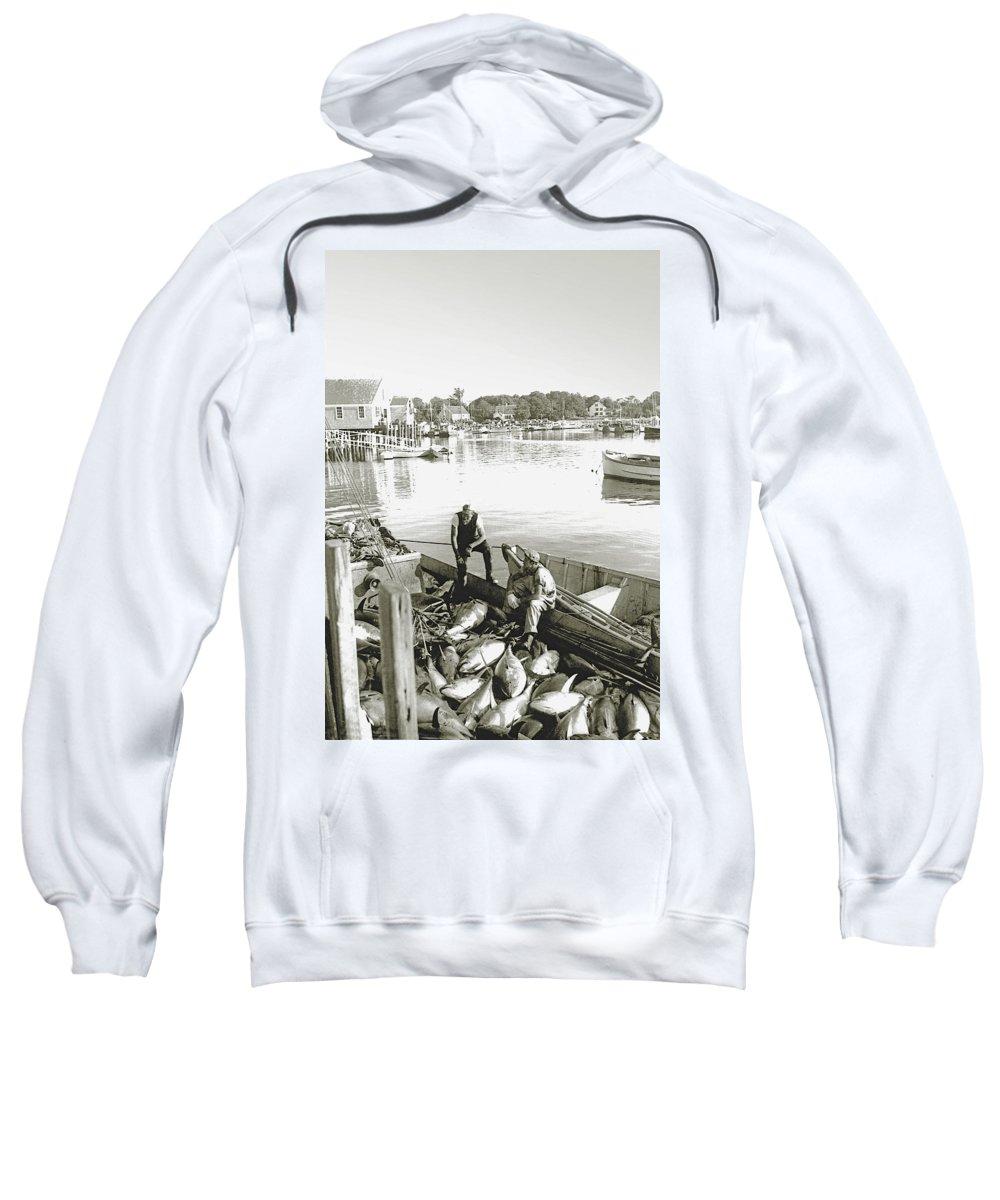 Bluefin Tuna Sweatshirt featuring the photograph Bluefin Tuna At Barnstable Harbor by Charles Harden