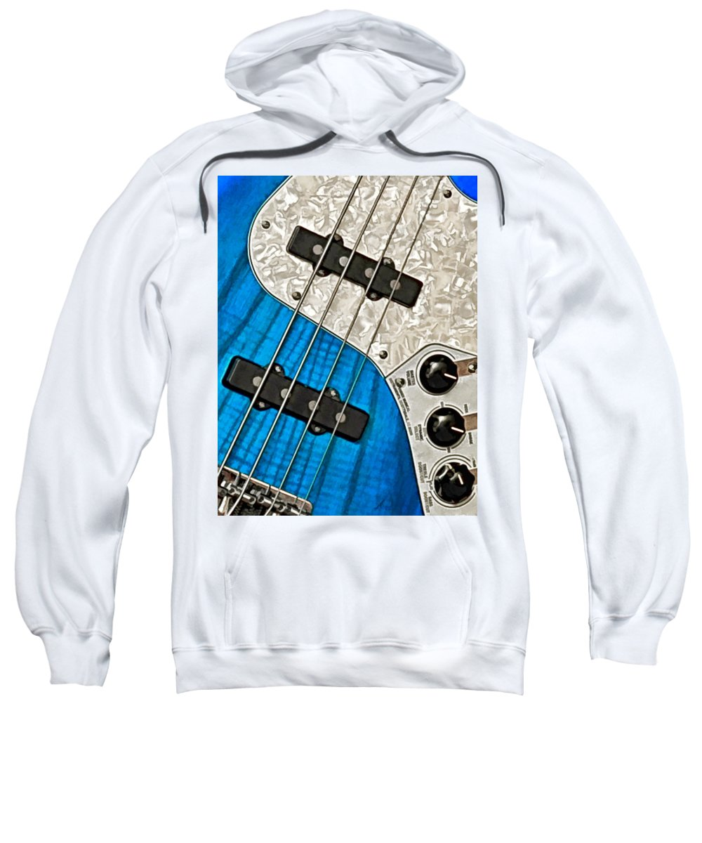 Guitar Sweatshirt featuring the photograph Blues Bass by William Jobes