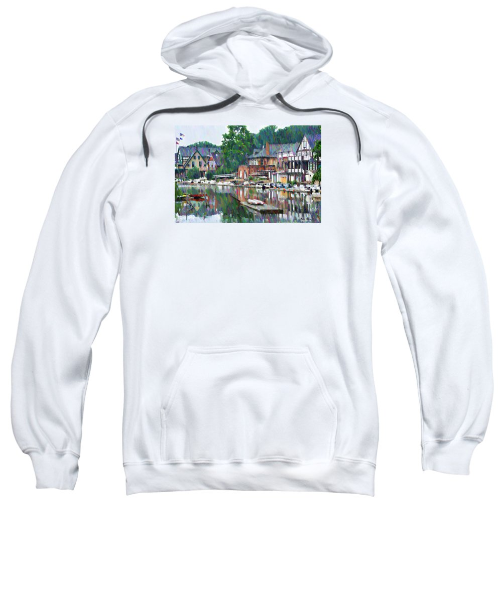 Boathouse Sweatshirt featuring the photograph Boathouse Row In Philadelphia by Bill Cannon