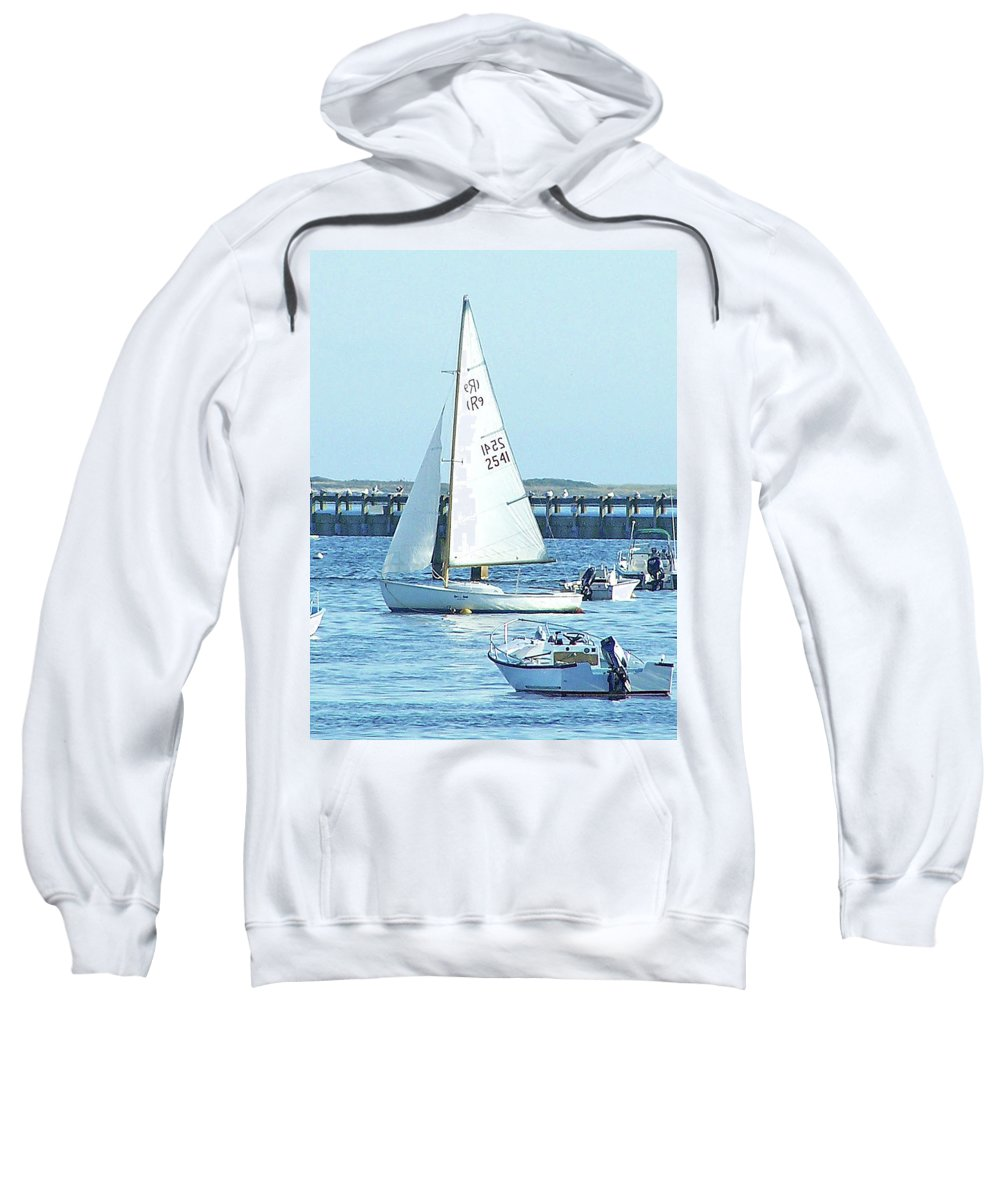 Boats Sweatshirt featuring the photograph Boats At Provincetown by Marilyn Holkham