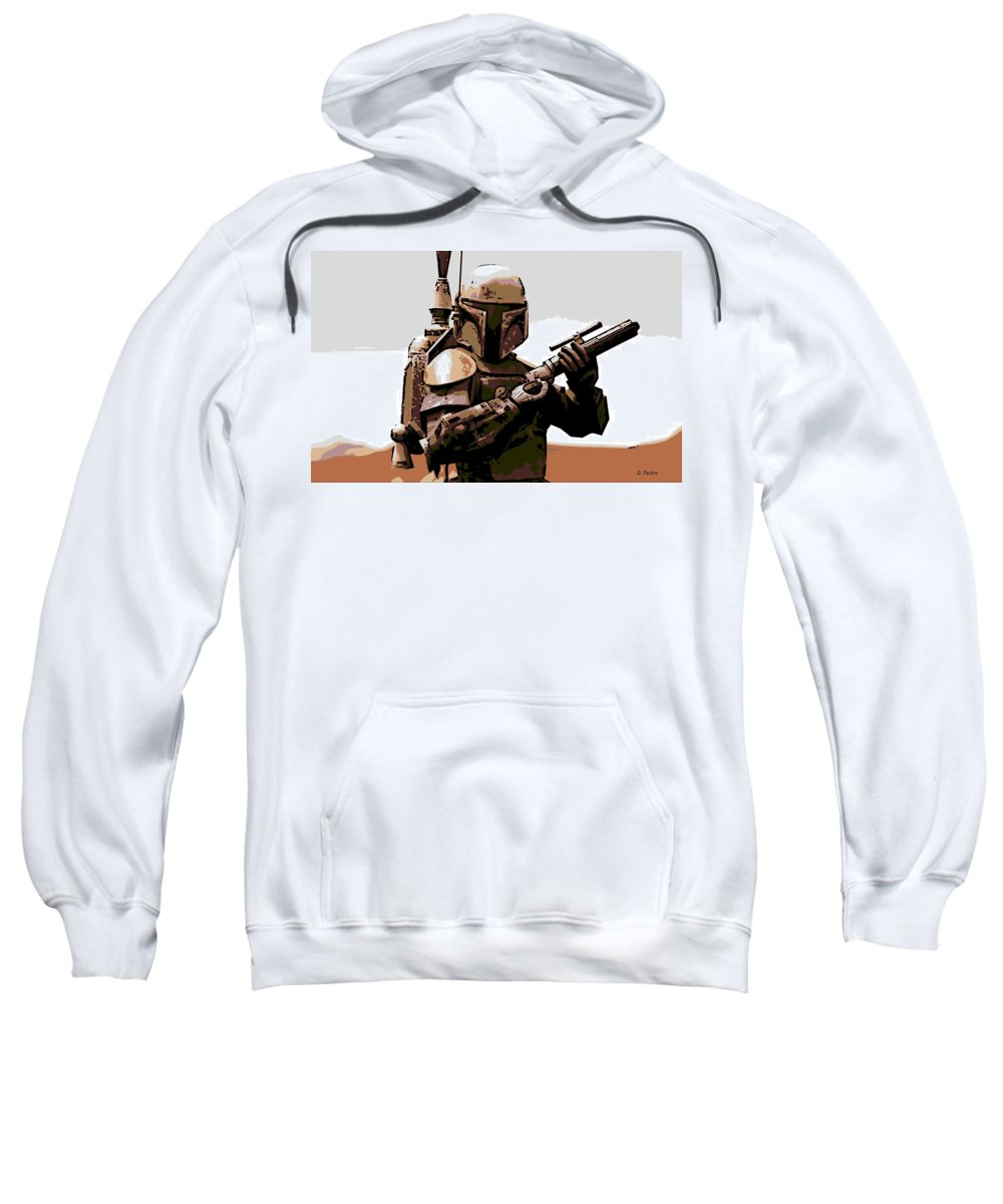 Star Wars Sweatshirt featuring the photograph Boba Fett by George Pedro