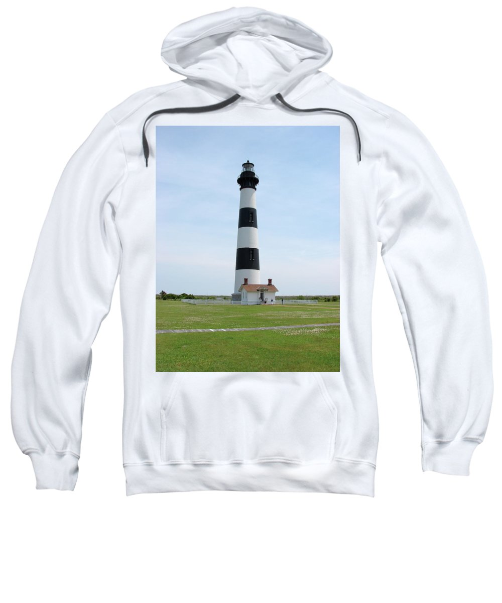 Bodie Lighthouse Sweatshirt featuring the photograph Bodie Lighthouse Nags Head Nc II by Brett Winn