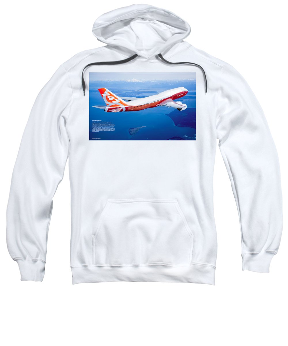 Boeing 747-8 Sweatshirt featuring the digital art Boeing 747-8 by Bert Mailer