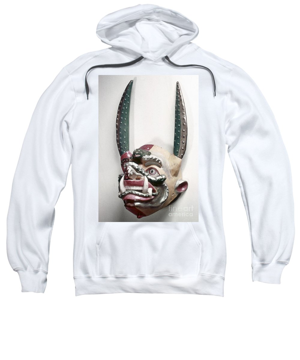 Artifact Sweatshirt featuring the photograph Bolivia: Native Mask by Granger