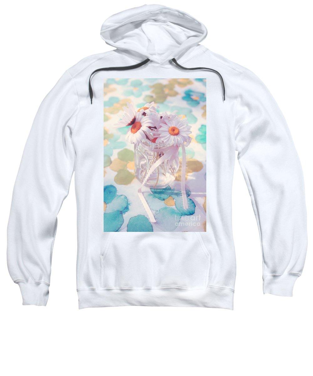 Daisies Sweatshirt featuring the photograph Bonheur En Pot 03 - S02a by Aimelle