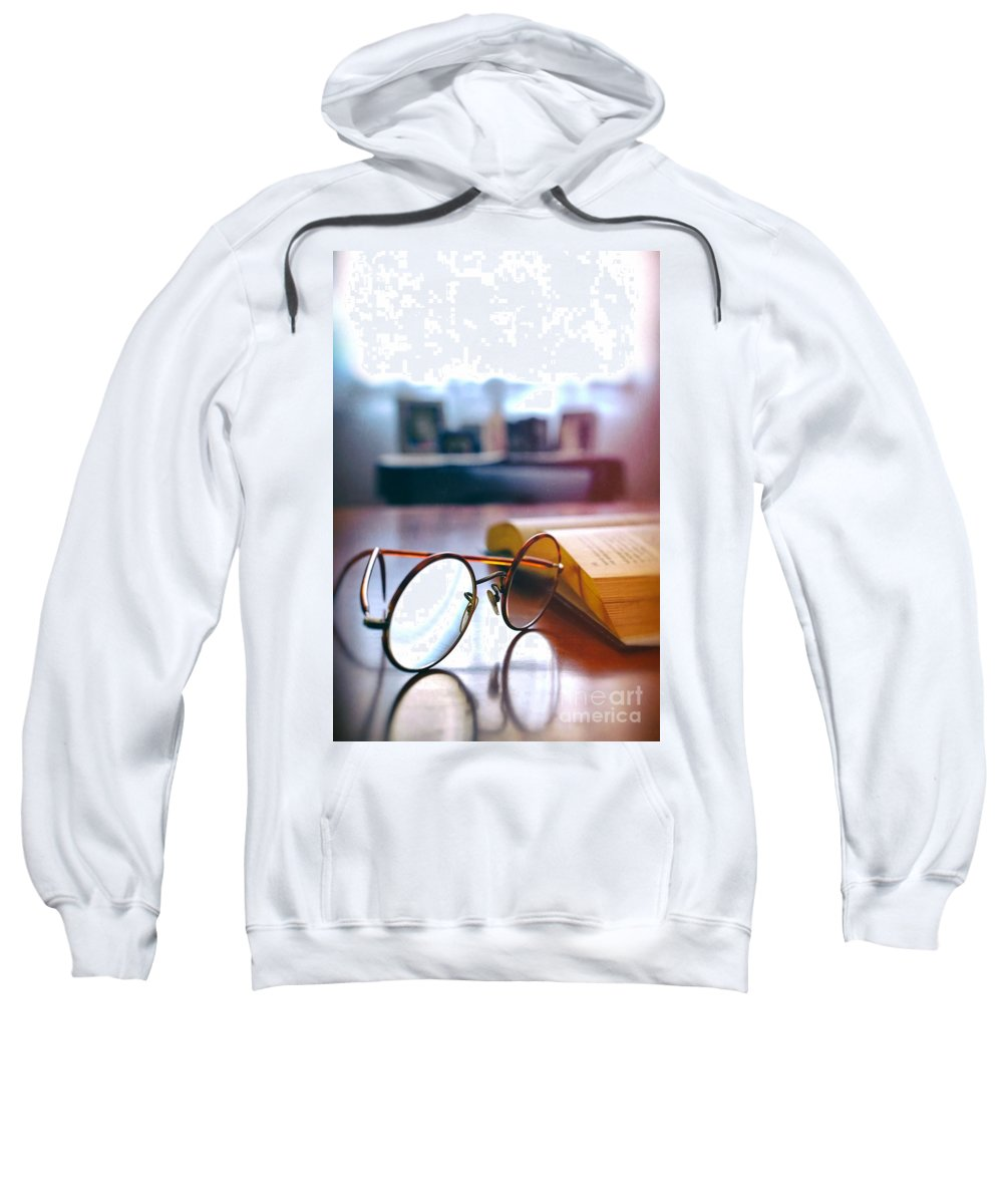 Antique Sweatshirt featuring the photograph Book And Glasses by Carlos Caetano