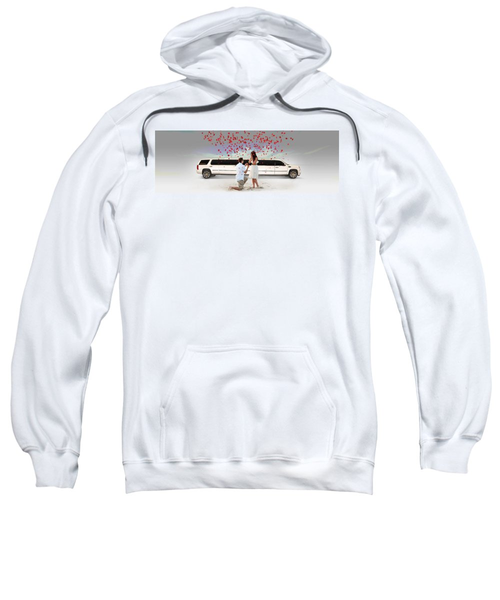 Elitelimo Sweatshirt featuring the photograph Book Elite Limousine Services For Wedding - Elite Limo by Elite Limo