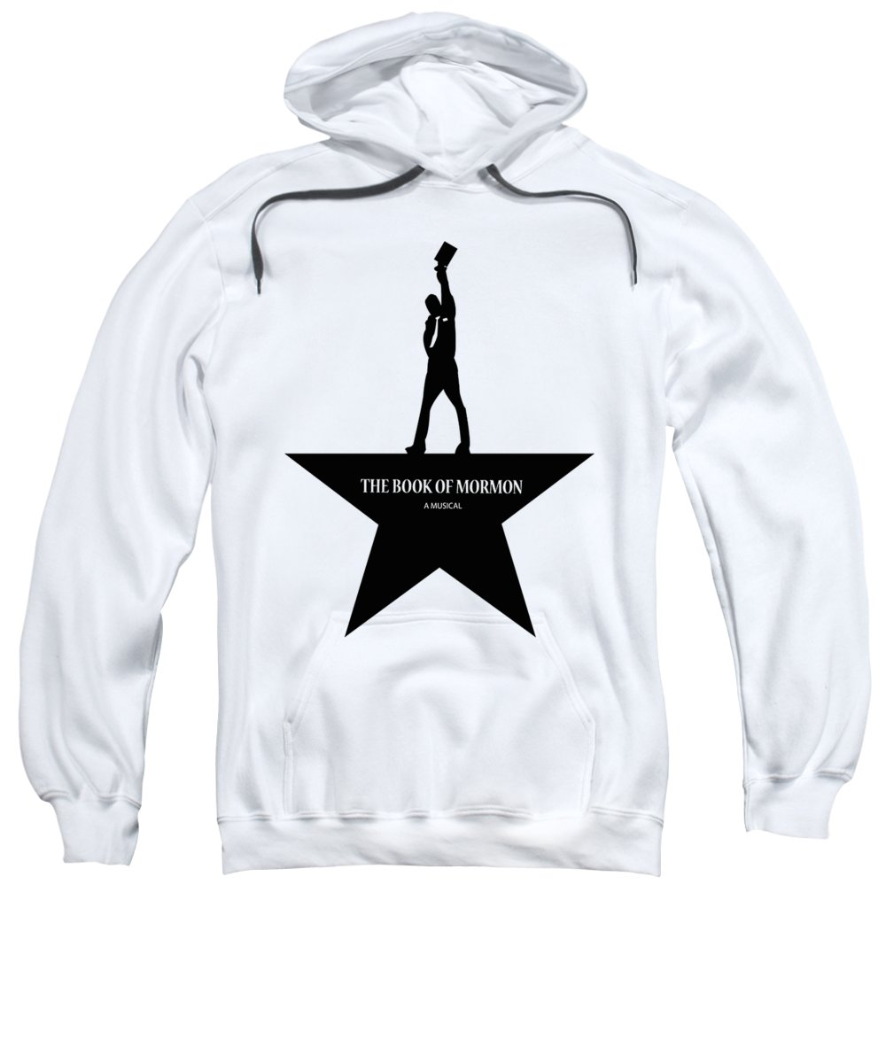 N Manuel Miranda South Park Elder Price Broadway Musical Music Lyrics Quotes Elder Cunningham Alexander Hamilton Sweatshirt featuring the digital art Book Of Mormon by Cinta Pakelonan