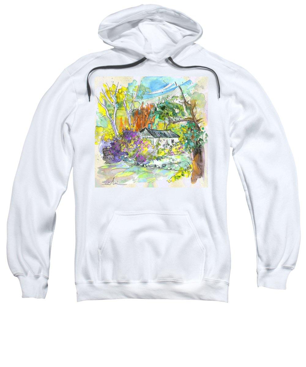 Borderes Sweatshirt featuring the painting Borderes Sur Echez 02 by Miki De Goodaboom