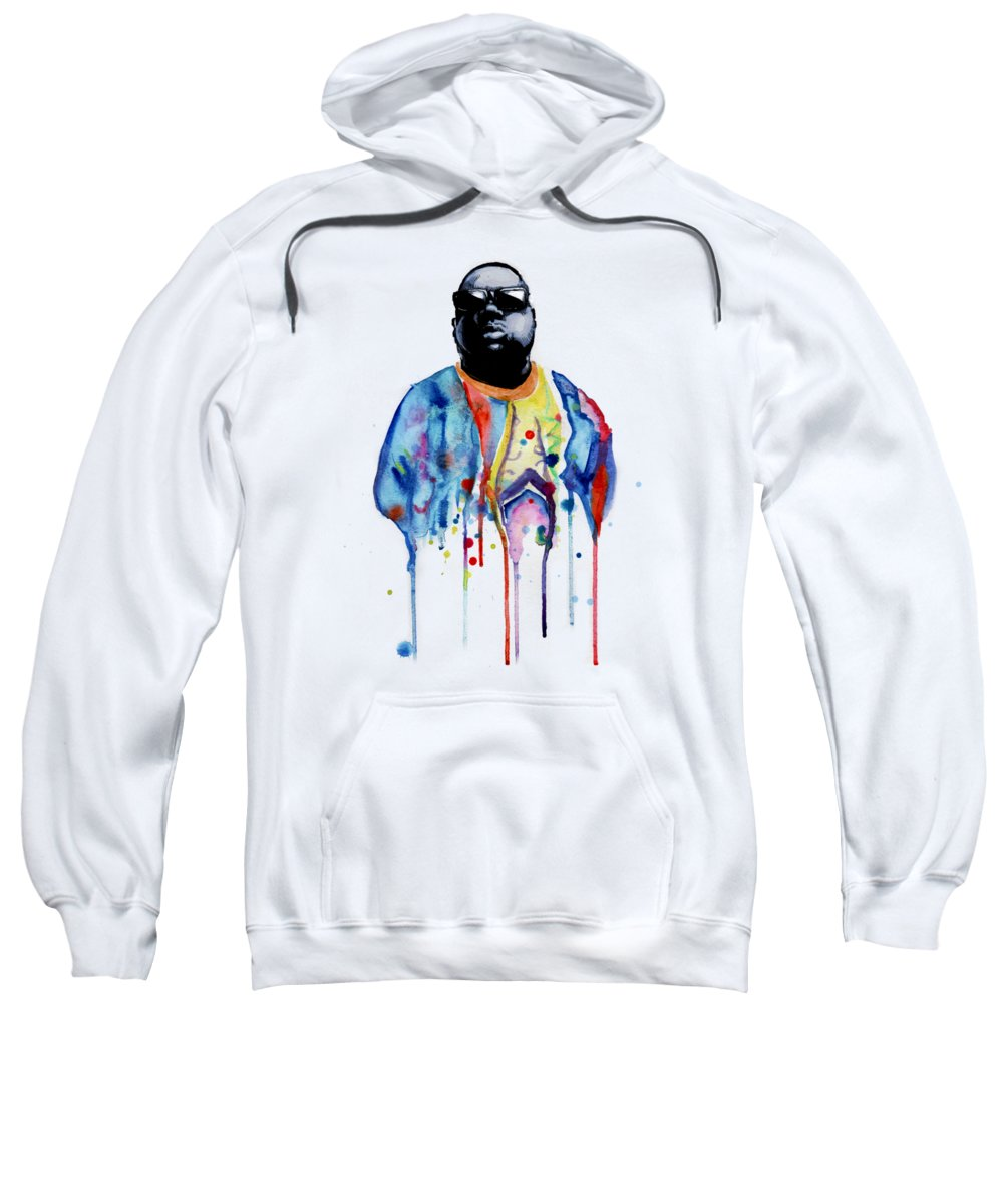 Notorious Sweatshirt featuring the drawing Born Sinner by Ludwig Van Bacon