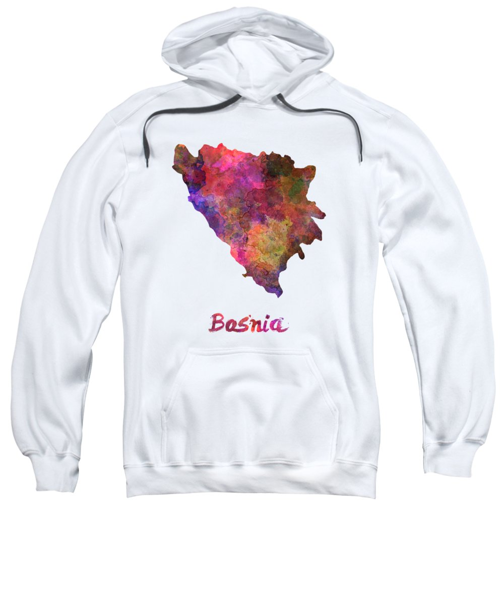 Bosnia Hooded Sweatshirts T-Shirts