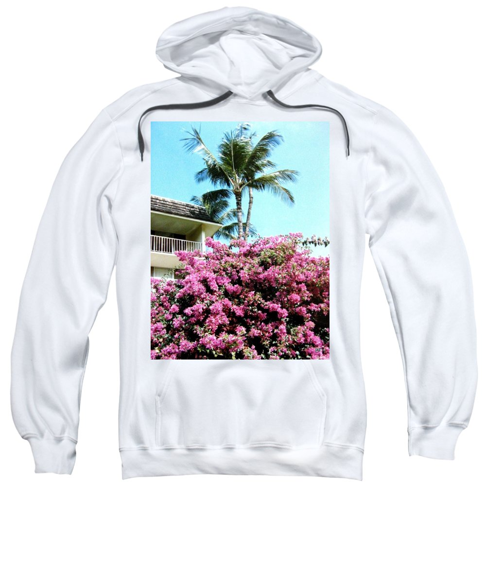 1986 Sweatshirt featuring the photograph Bougainvillea by Will Borden