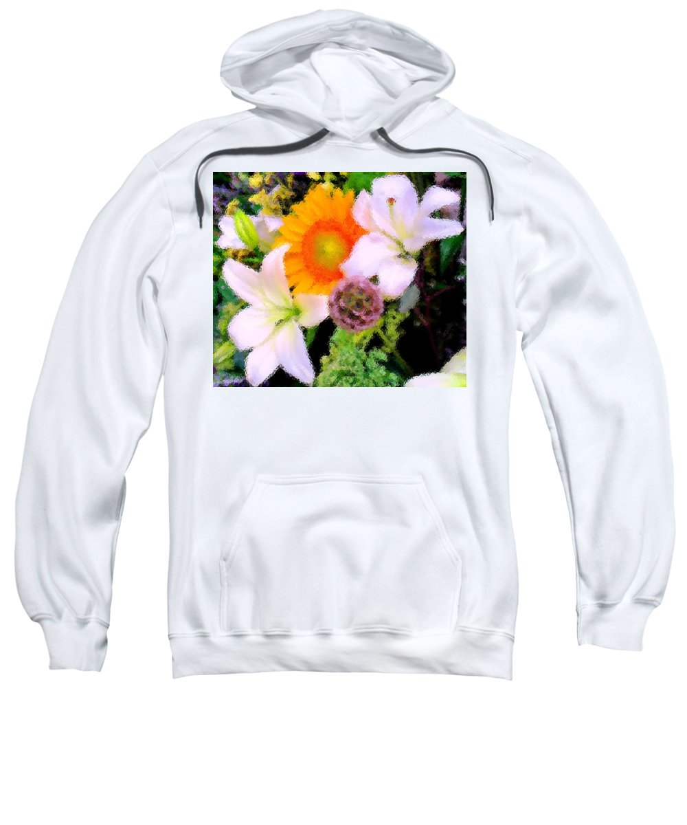 Sun Sweatshirt featuring the photograph Bouquet Softly There by Ian MacDonald