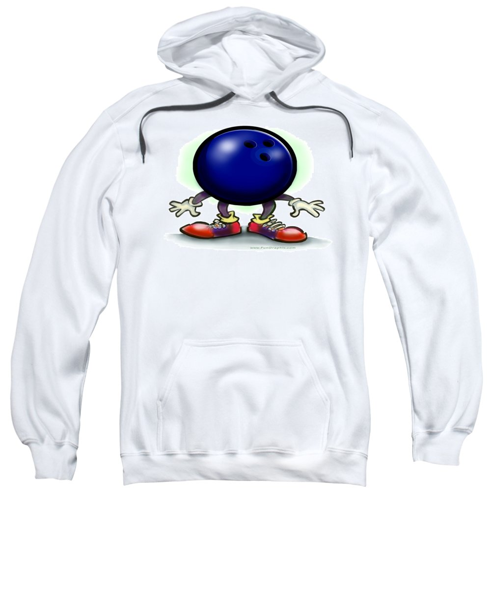 Bowl Sweatshirt featuring the greeting card Bowling by Kevin Middleton