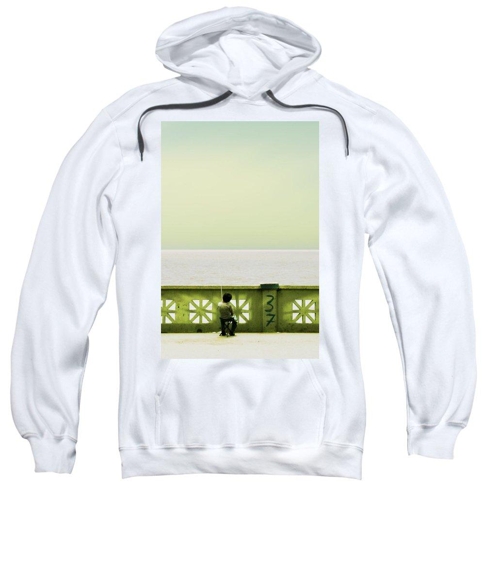 Argentina Sweatshirt featuring the photograph Boy Fishing by Osvaldo Hamer