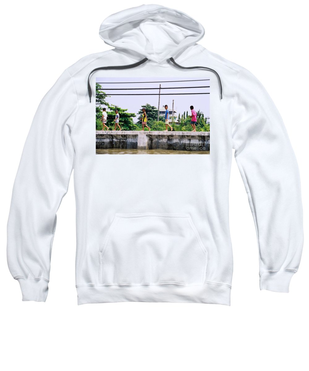 Children Sweatshirt featuring the photograph Boys In Bangkok by Mary Rogers