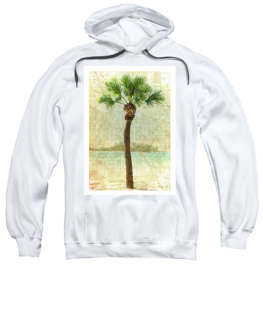 Beach Sweatshirt featuring the photograph Bradenton Palm by Gregg Cestaro