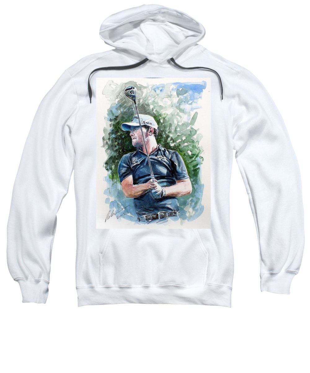 Brendon Grace Sweatshirt featuring the painting Branden Grace Watercolor by Mark Robinson