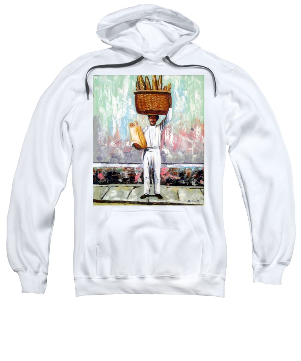 Bread Sweatshirt featuring the painting Breadman by Jose Manuel Abraham