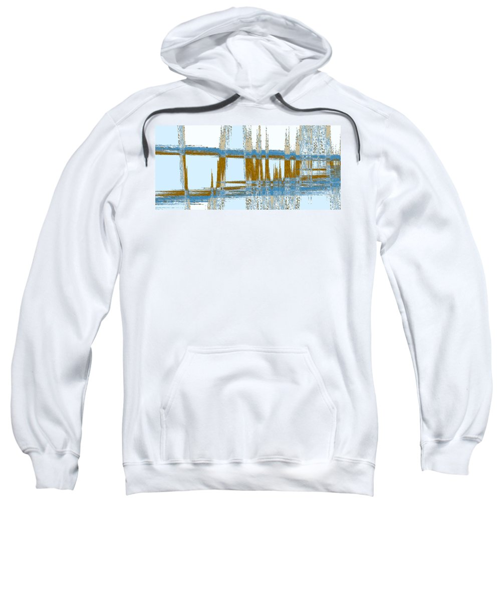 Abstract Sweatshirt featuring the digital art Bridge Abstract by Lenore Senior