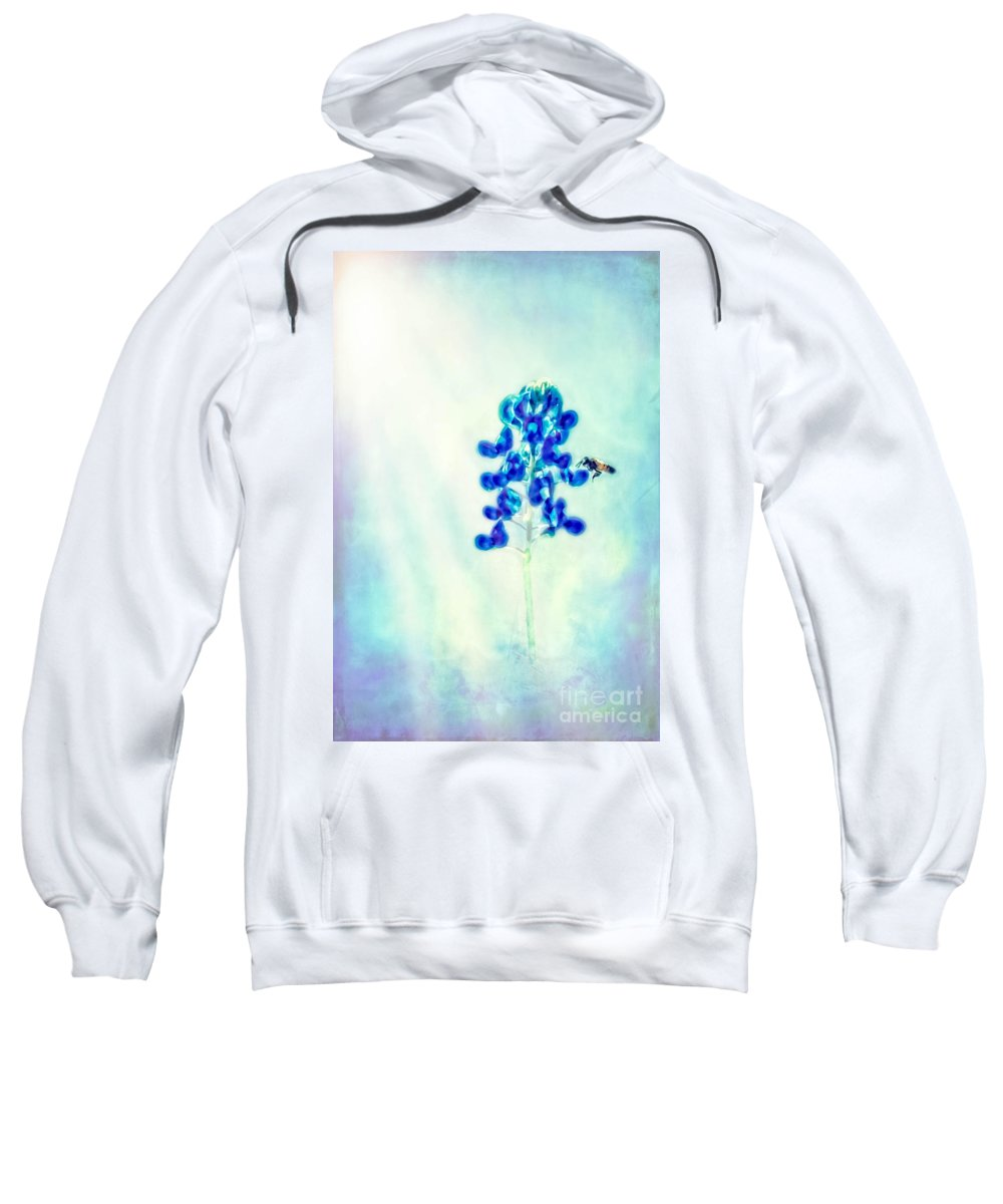 Bluebonnet Sweatshirt featuring the photograph Bright Spring Day by Kim Henderson