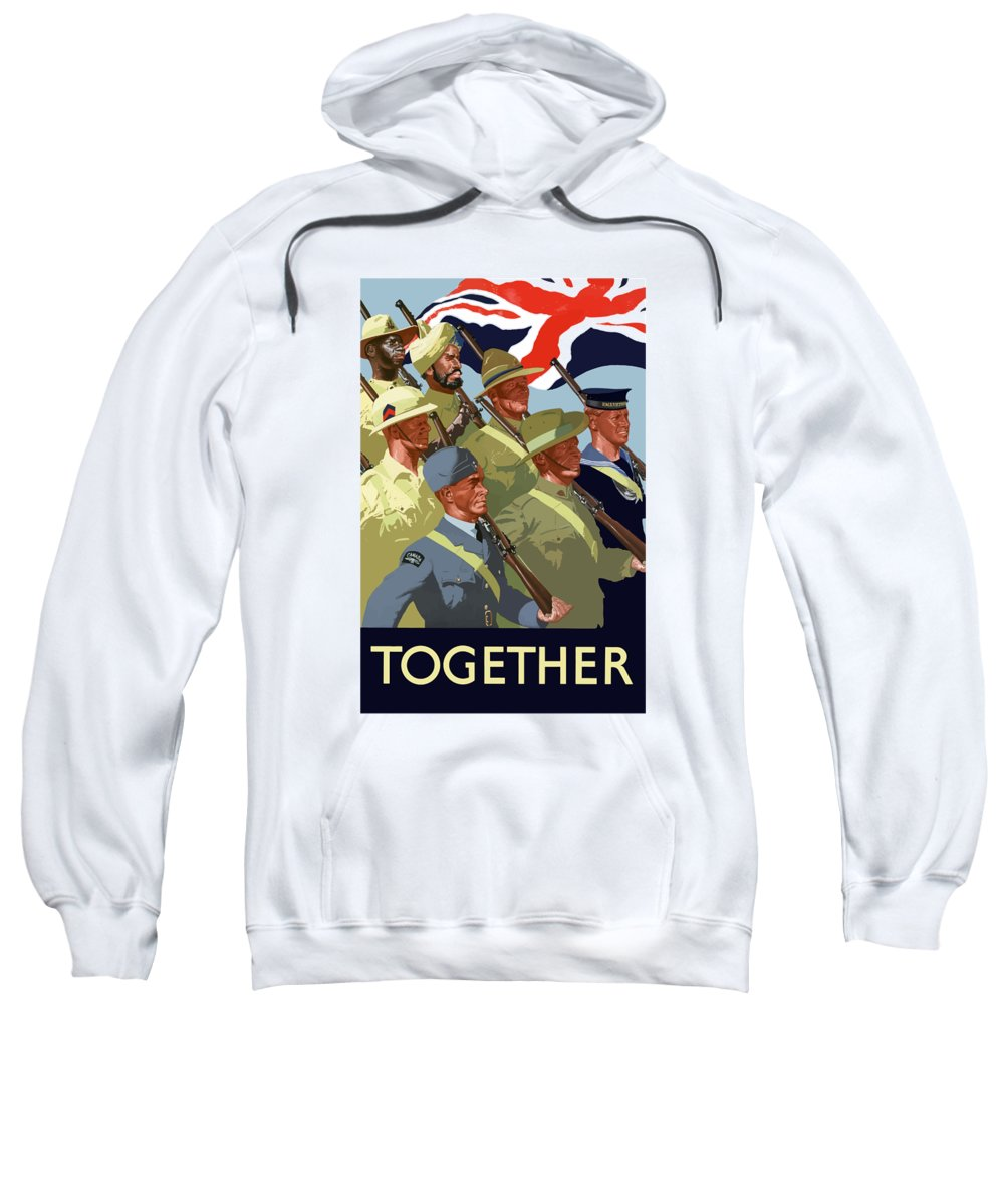 Union Flag Sweatshirt featuring the painting British Empire Soldiers Together by War Is Hell Store