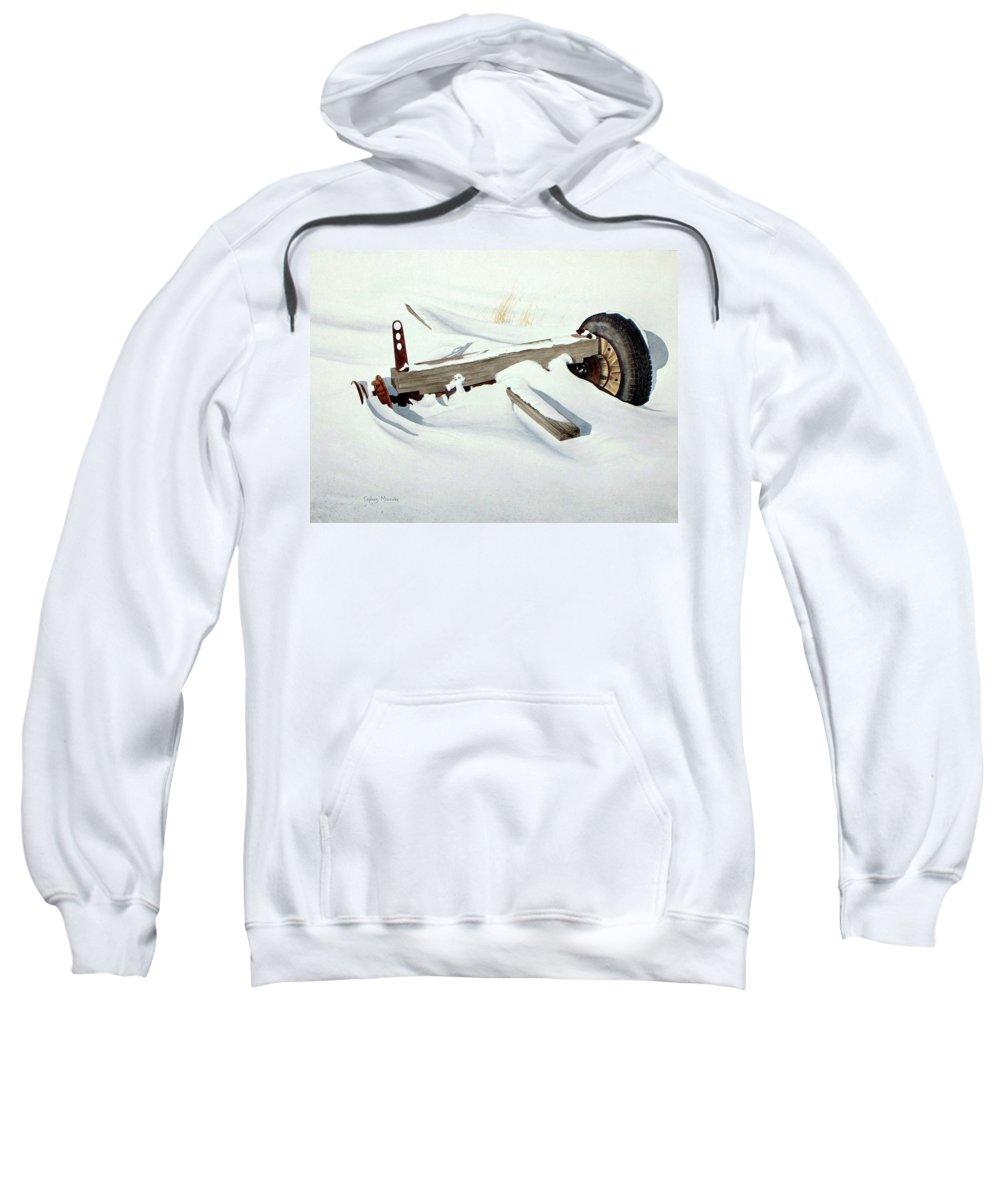 Winter Sweatshirt featuring the painting Broken Dreams by Conrad Mieschke