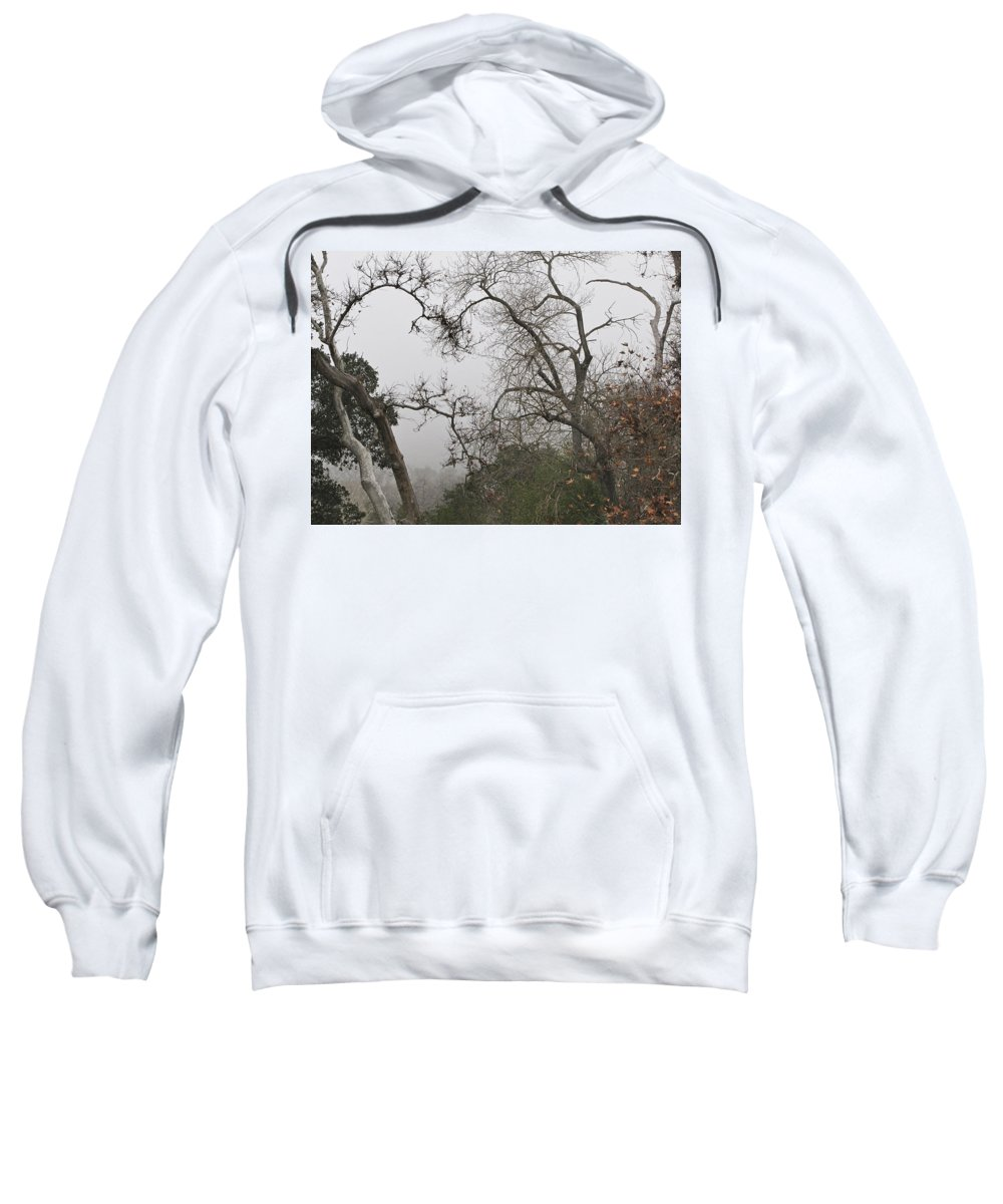 Fog Sweatshirt featuring the photograph Broken Heart In Fog by Karen W Meyer