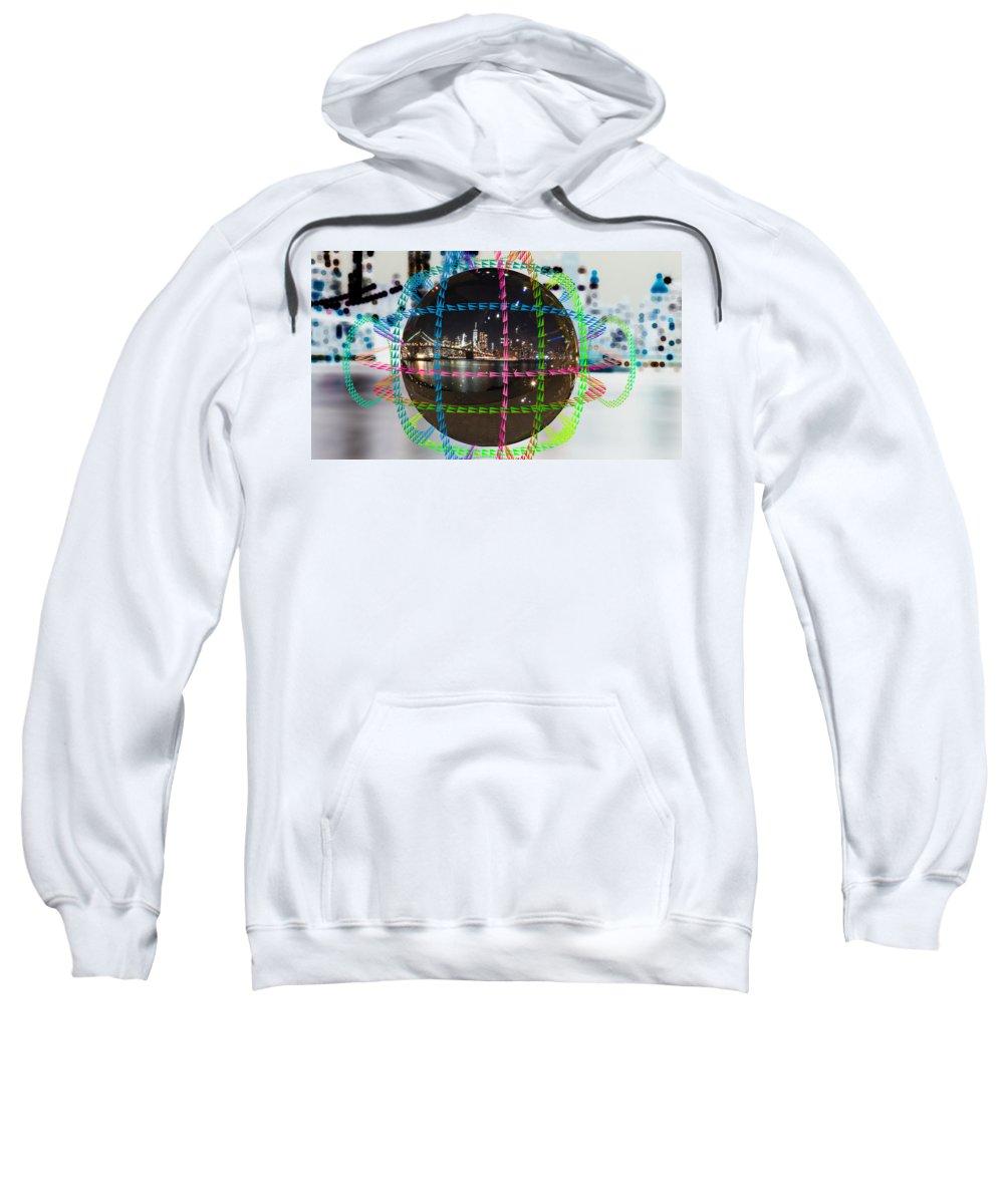 Sweatshirt featuring the digital art Brooklyn Ball 2 by AJ Mouser