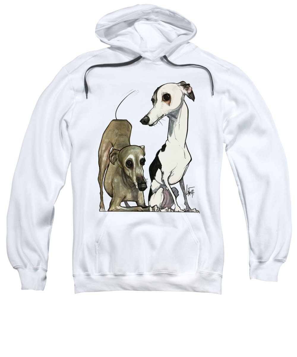 Pet Portrait Sweatshirt featuring the drawing Brown 7-1512 by John LaFree