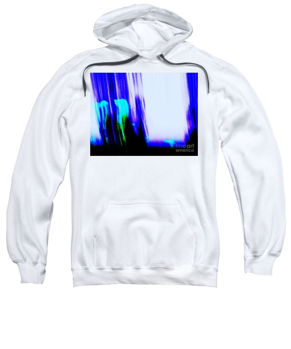 Abstract Sweatshirt featuring the painting Brush Of Color And Light by Eric Schiabor