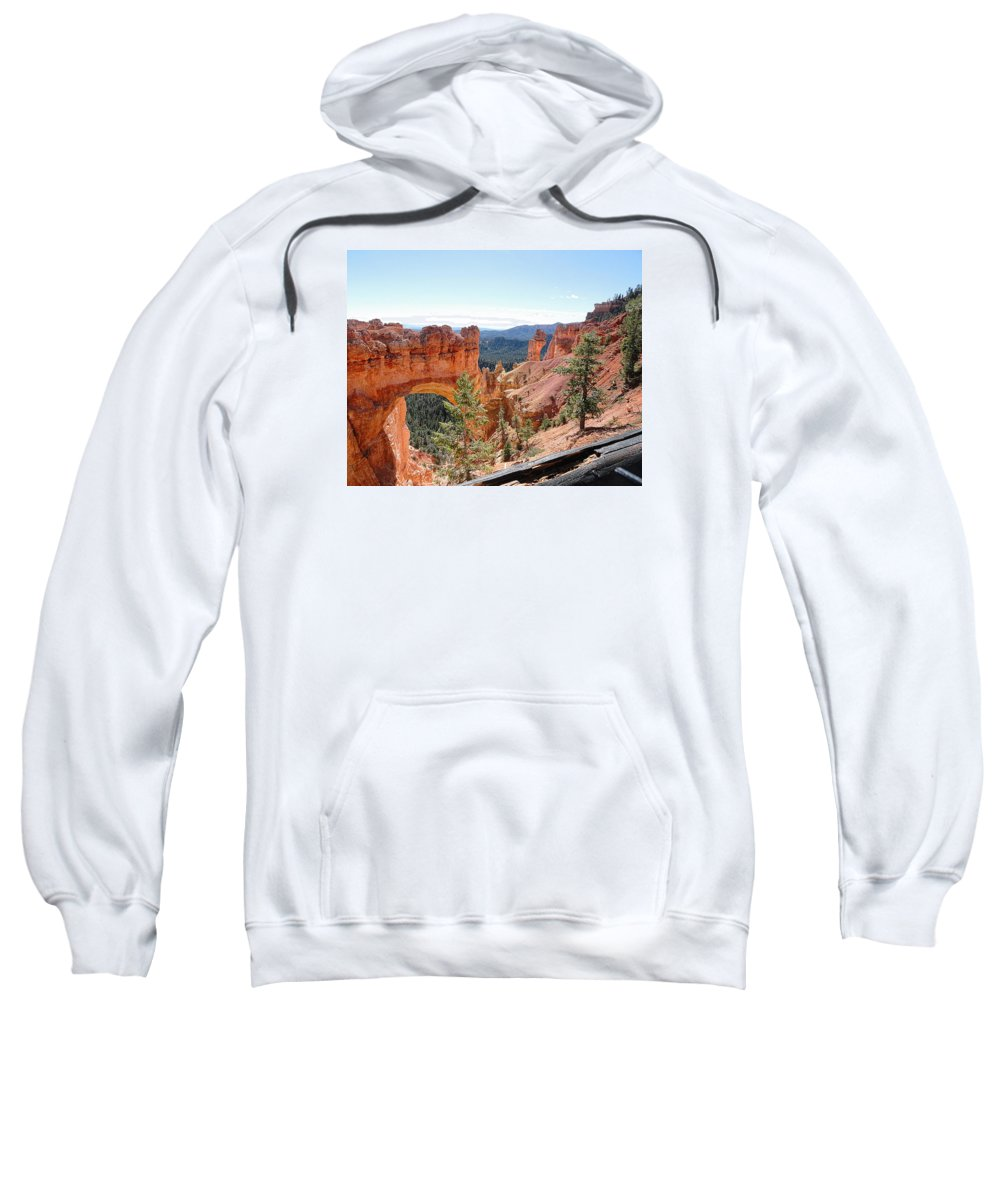 Natural Bridge Sweatshirt featuring the photograph Bryce Canyon Natural Bridge - Utah by TN Fairey