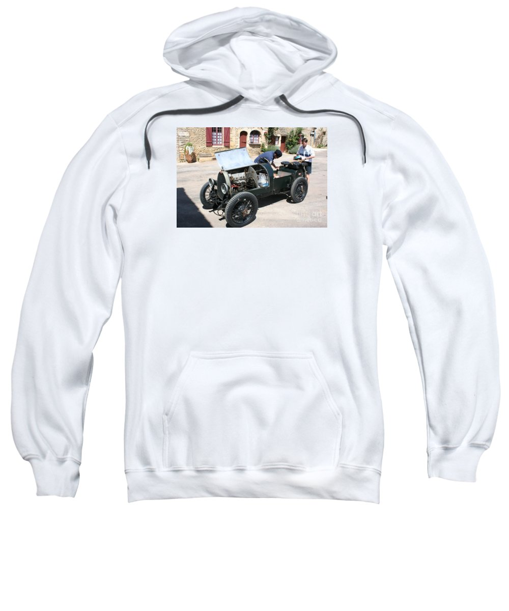 Oldtimer Sweatshirt featuring the photograph Bugatti Oldtimer by Christiane Schulze Art And Photography