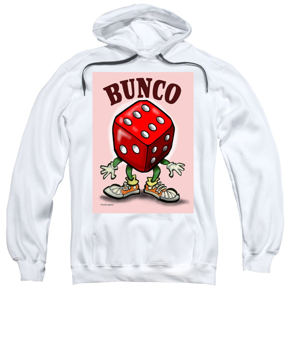 Bunco Sweatshirt featuring the greeting card Bunco by Kevin Middleton