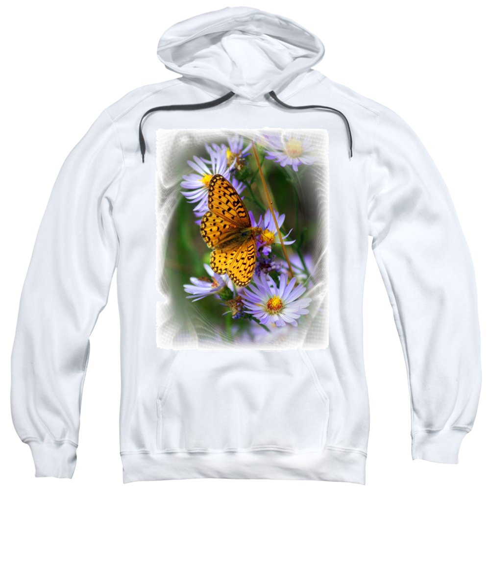 Butterfly Sweatshirt featuring the photograph Butterfly Bliss by Marty Koch