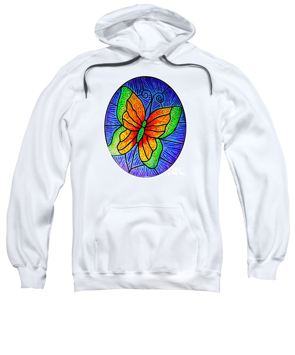 Butterflies Sweatshirt featuring the painting Butterfly Glory by Jim Harris