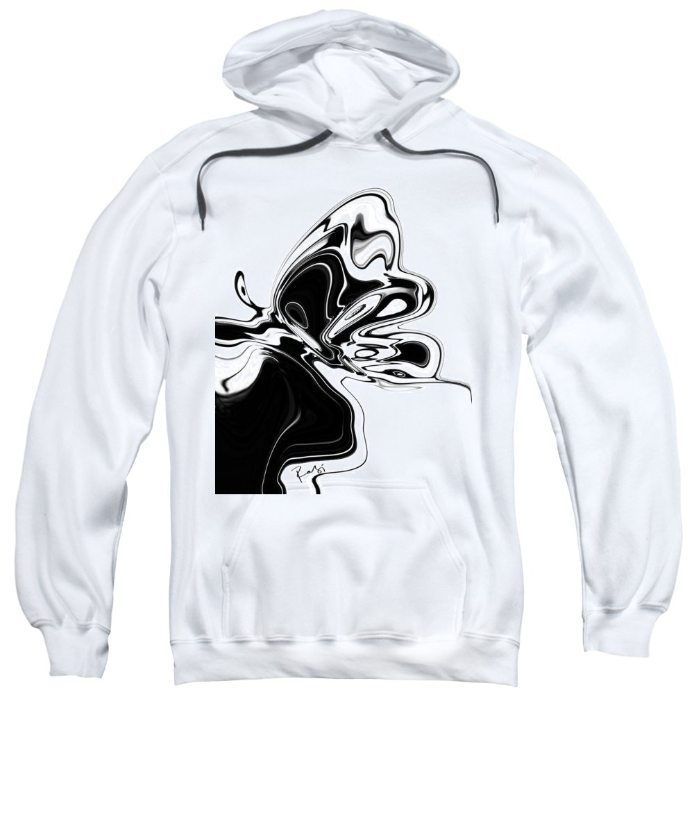 Abstract Sweatshirt featuring the digital art Butterfly by Rabi Khan