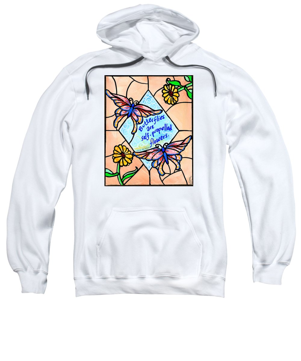 Butterfly Sweatshirt featuring the painting Butterflywhispers1 by Jim Harris