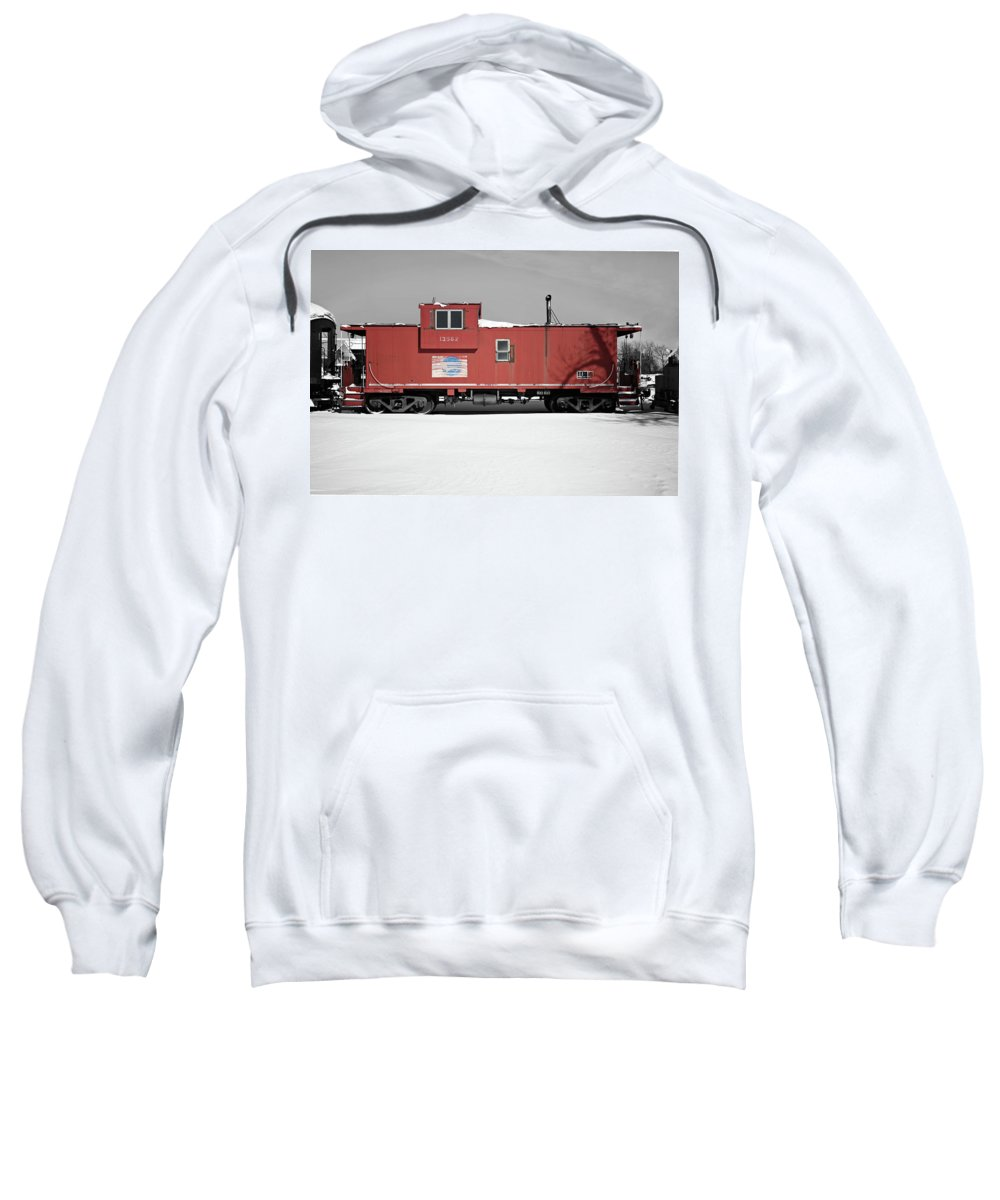 Caboose Sweatshirt featuring the photograph Caboose by Paul Conner