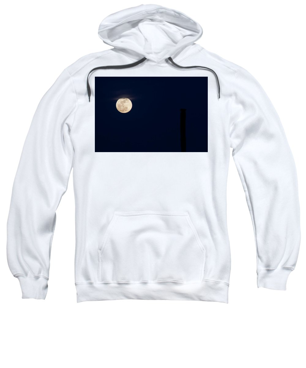 Arizona Sweatshirt featuring the photograph Cactus Moon by Cathy Franklin