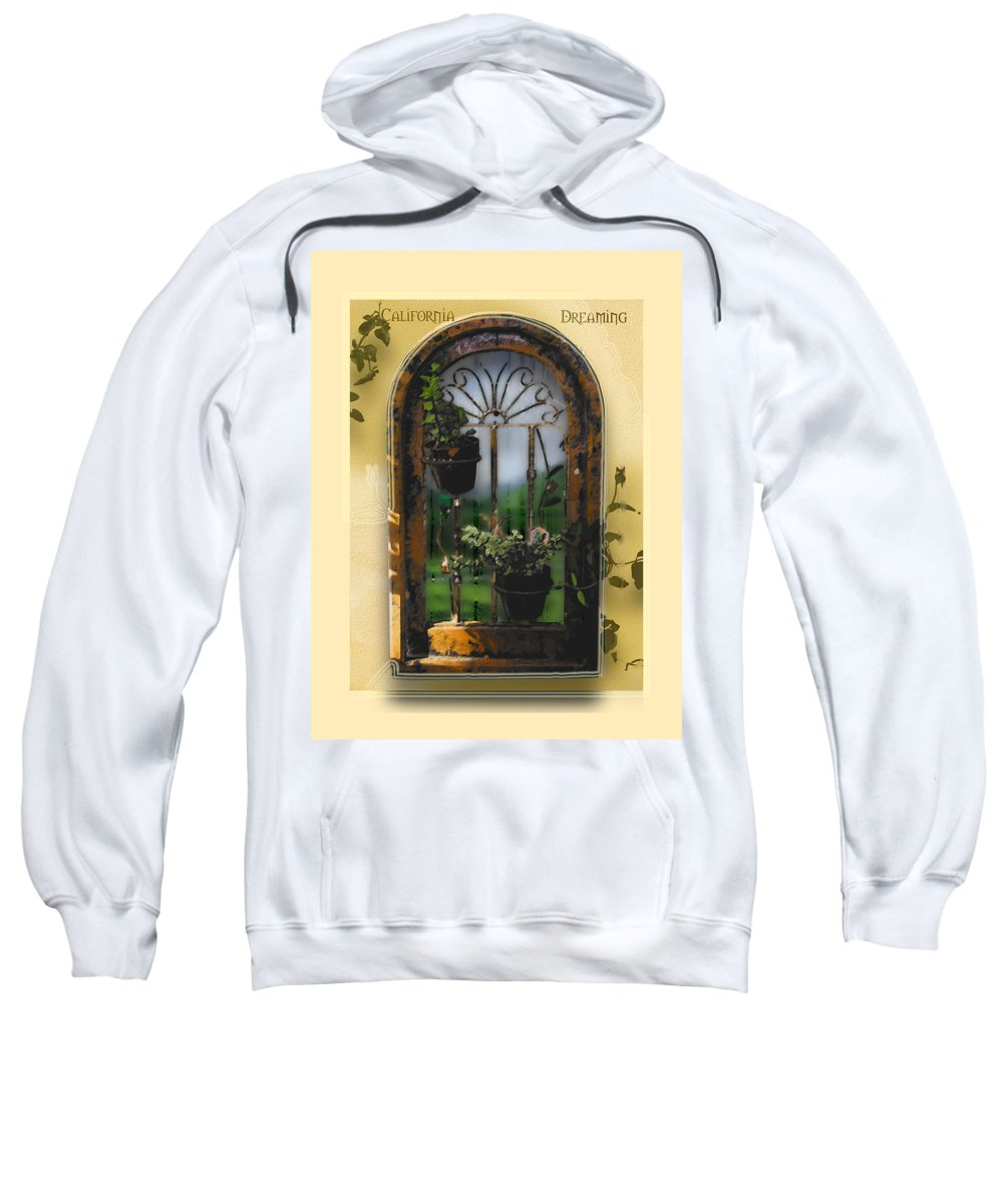 Abstract Sweatshirt featuring the photograph California Dreamin by Karen W Meyer