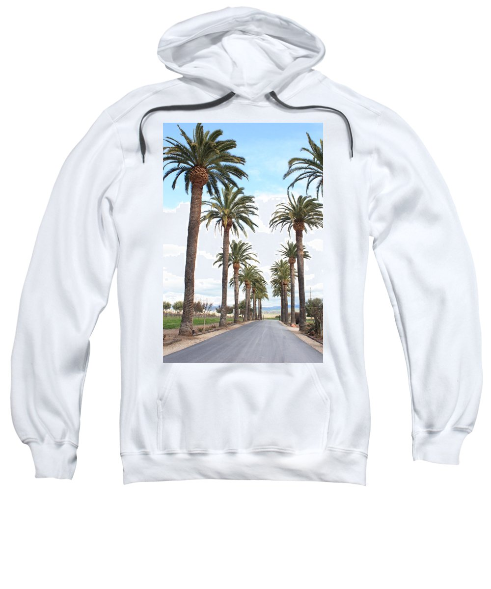 Palm Trees Sweatshirt featuring the photograph California Dreaming by Carol Groenen