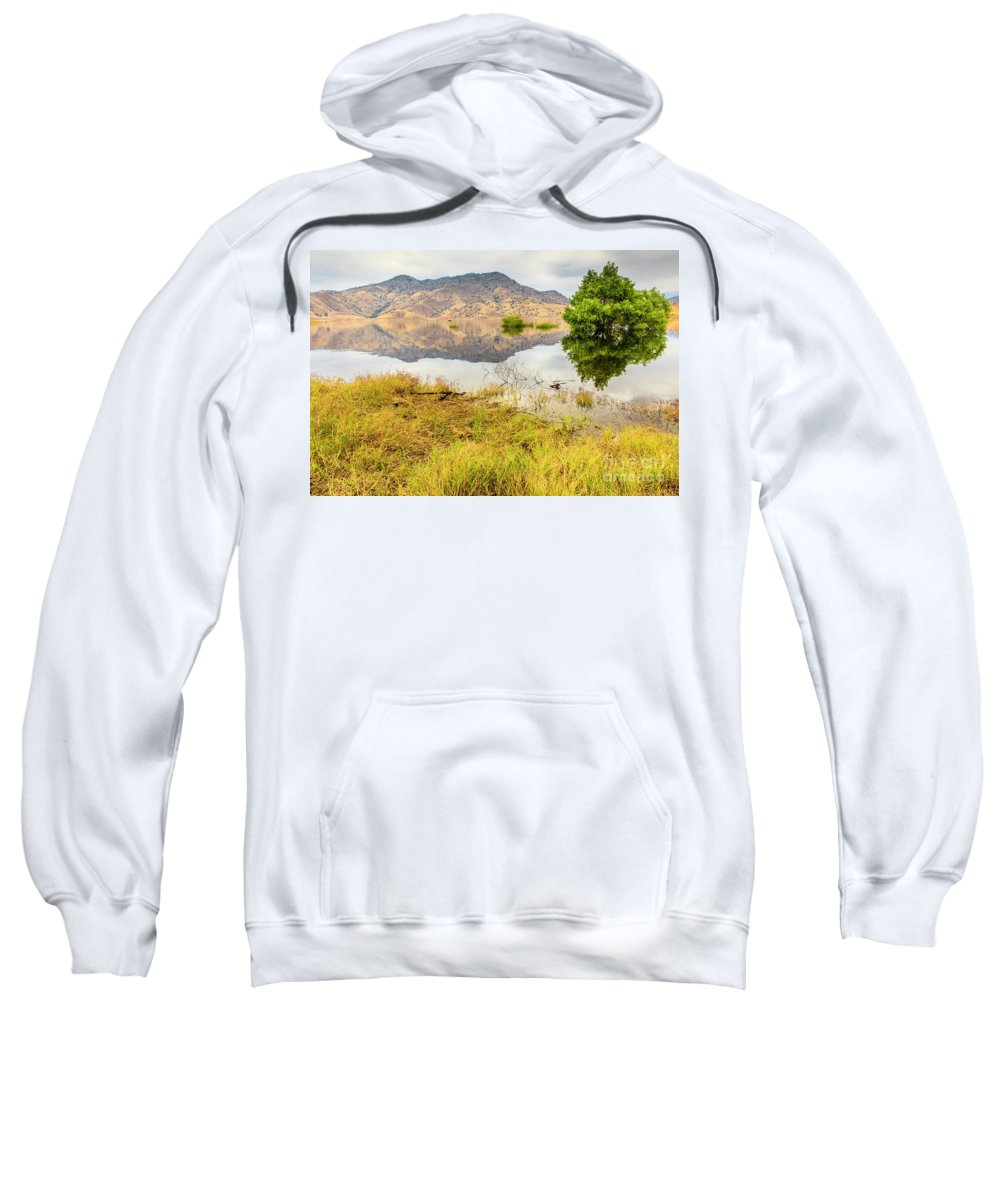 Lake Kaweah Sweatshirt featuring the photograph California Kaweah Lake Scene by Ben Graham