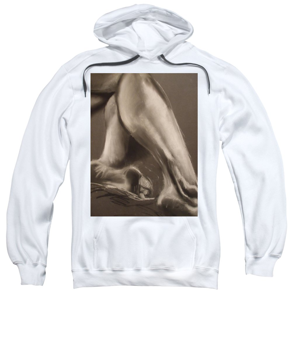 Legs Sweatshirt featuring the drawing Calves And Feet by Julie Fischer
