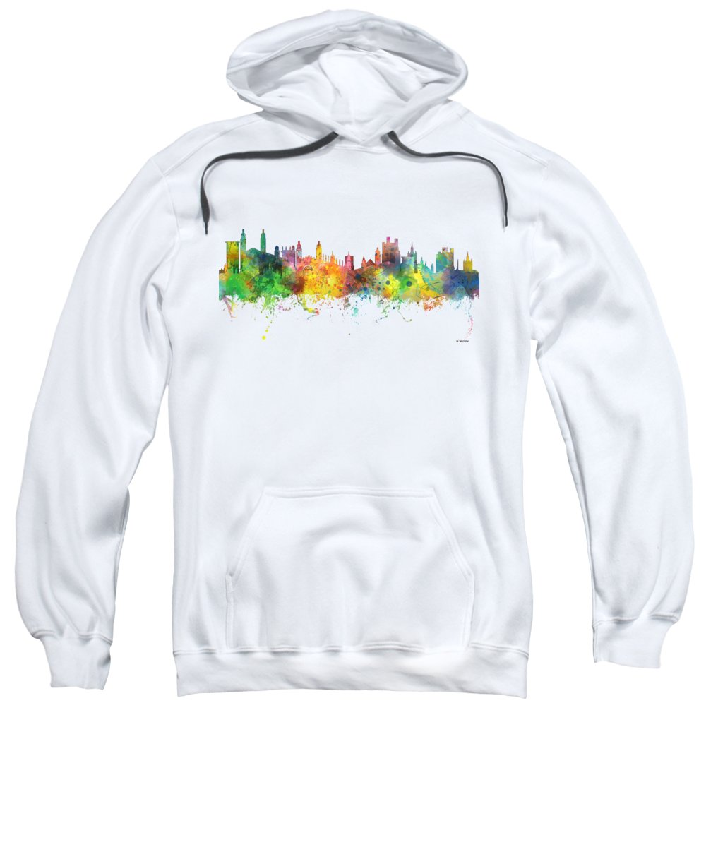 Cambridge England Skyline Sweatshirt featuring the digital art Cambridge England Skyline by Marlene Watson