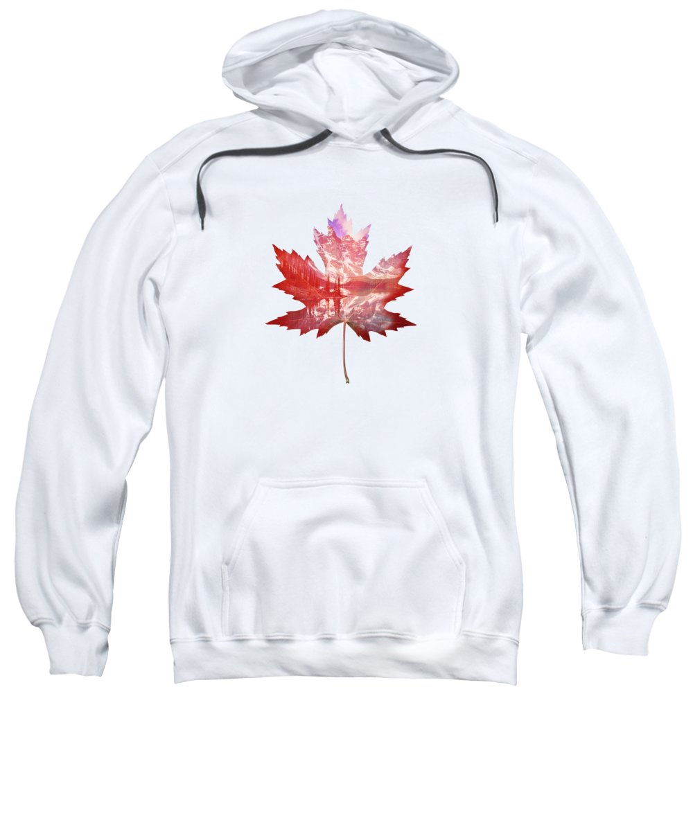 Maple Leaf Art Hooded Sweatshirts T-Shirts