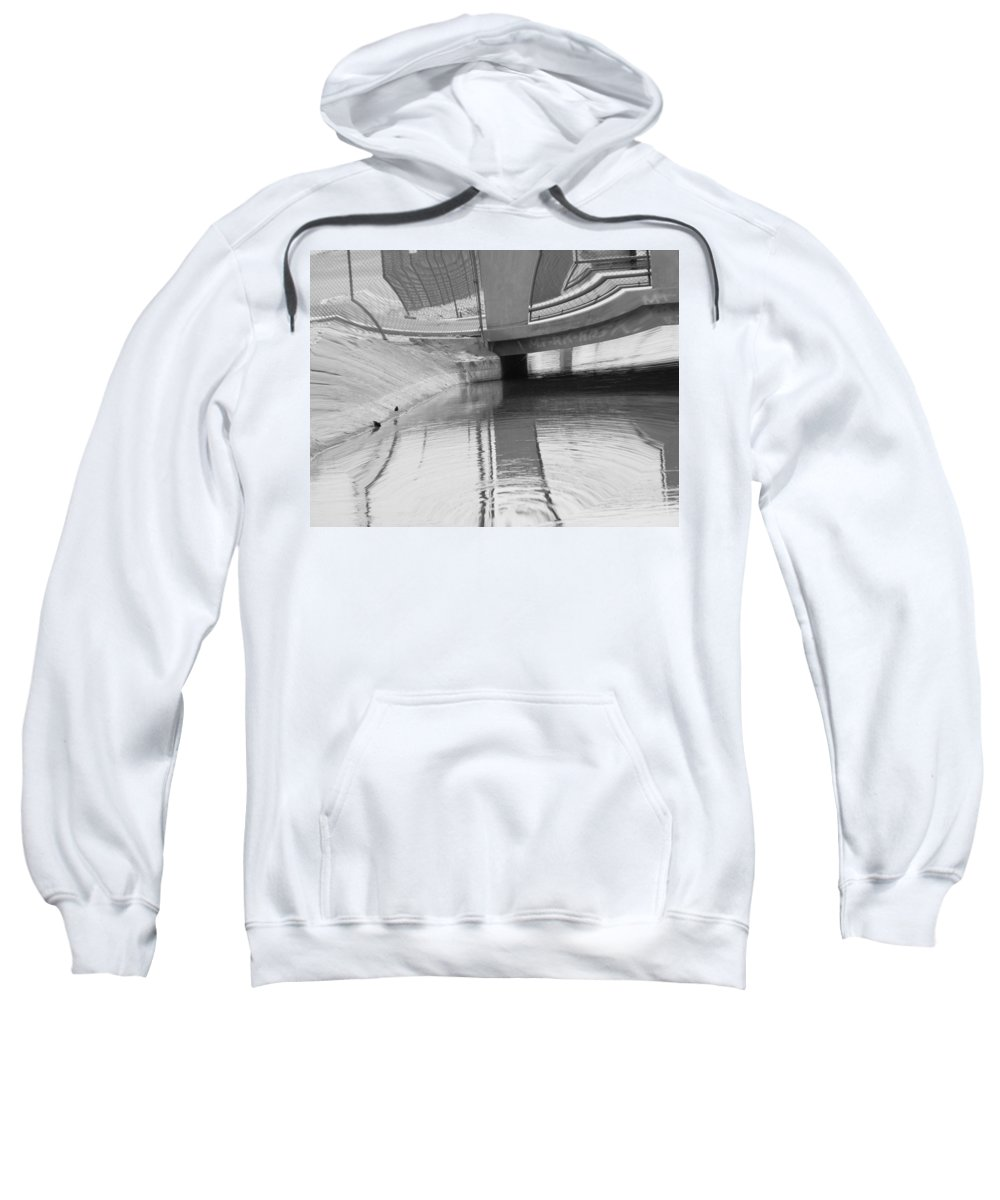 Abstract Sweatshirt featuring the digital art Canal 8-3 by Lenore Senior