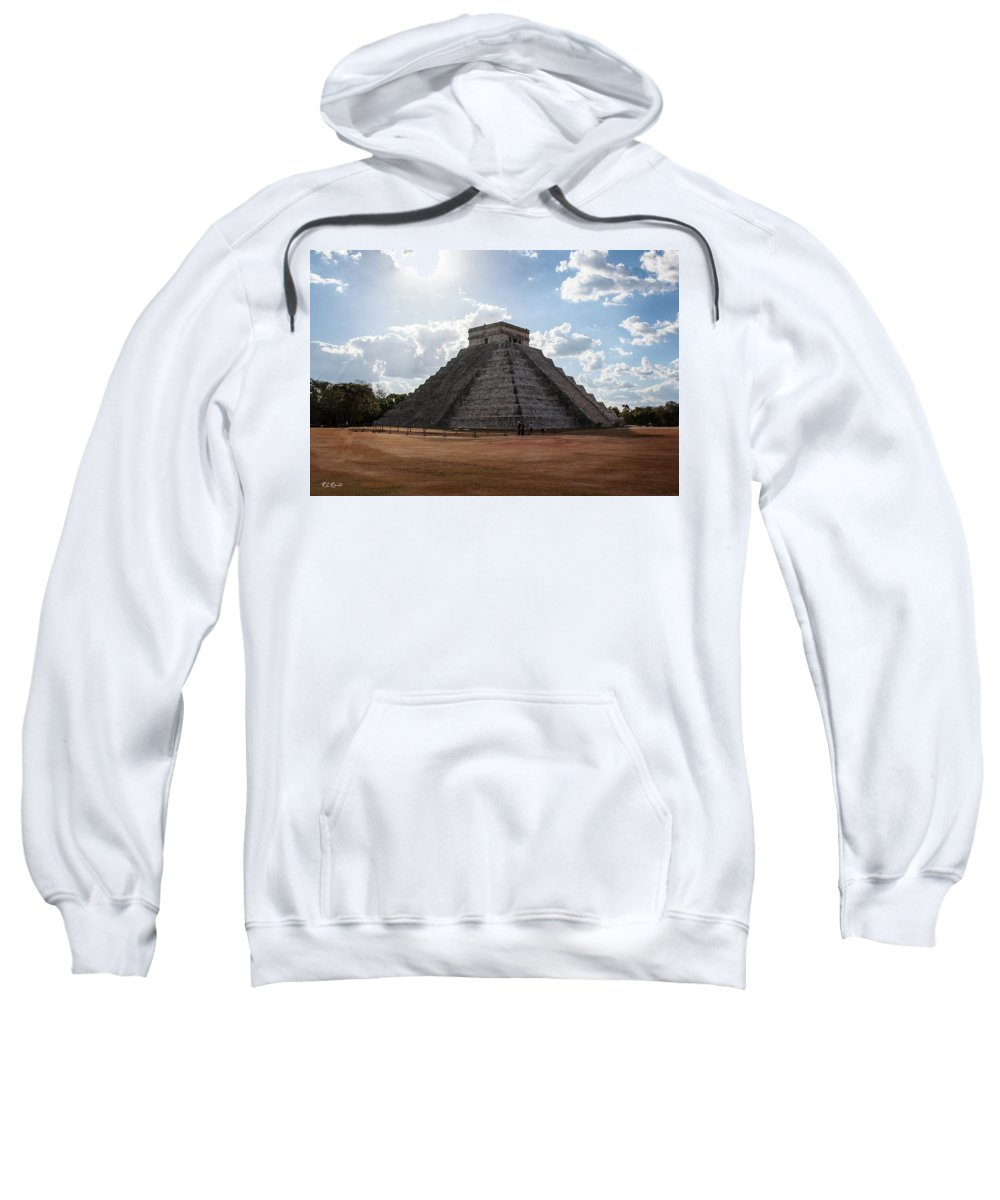 Cancun Sweatshirt featuring the photograph Cancun Mexico - Chichen Itza - Temple Of Kukulcan-el Castillo Pyramid 1 by Ronald Reid